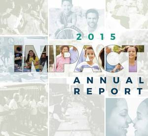 Annual report front cover graphic