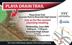Playa drain trail evite wed june 28