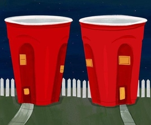 Red cup graphic newsletter
