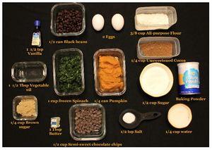 Brownie ingrediants