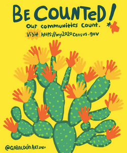 Be counted cactus artwork